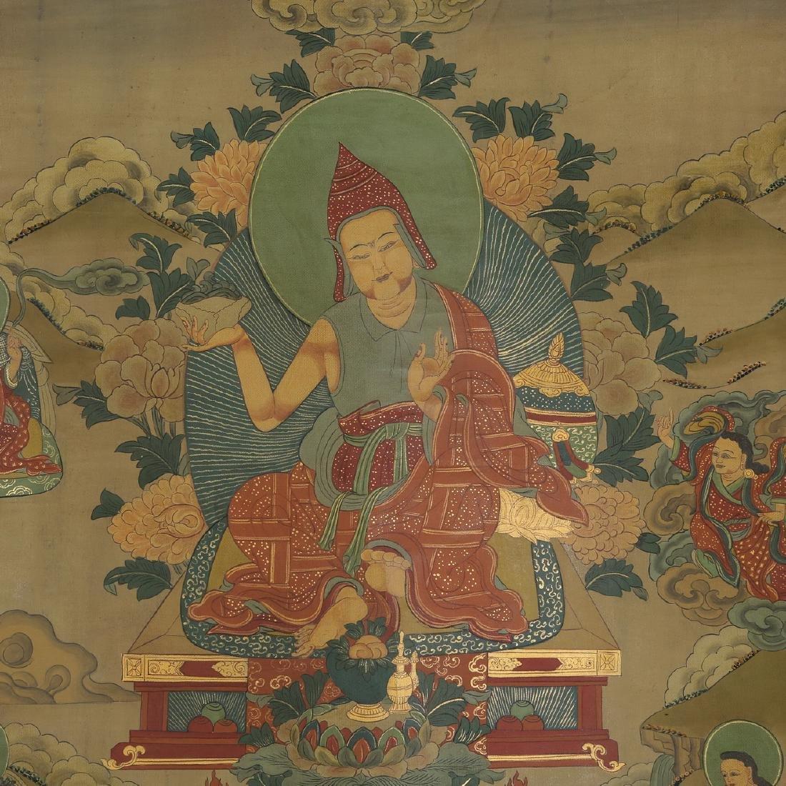 Set of Four Thangkas of Buddha Shakyamuni, Tibet - 13