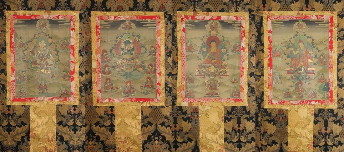 Set of Four Thangkas of Buddha Shakyamuni, Tibet