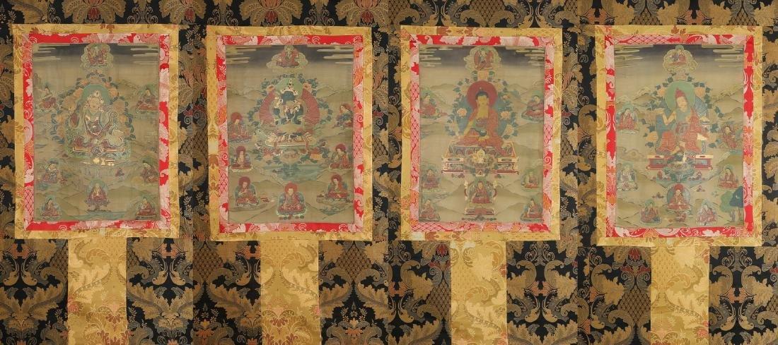 Set of Four Thangkas of Buddha Shakyamuni, Tibet