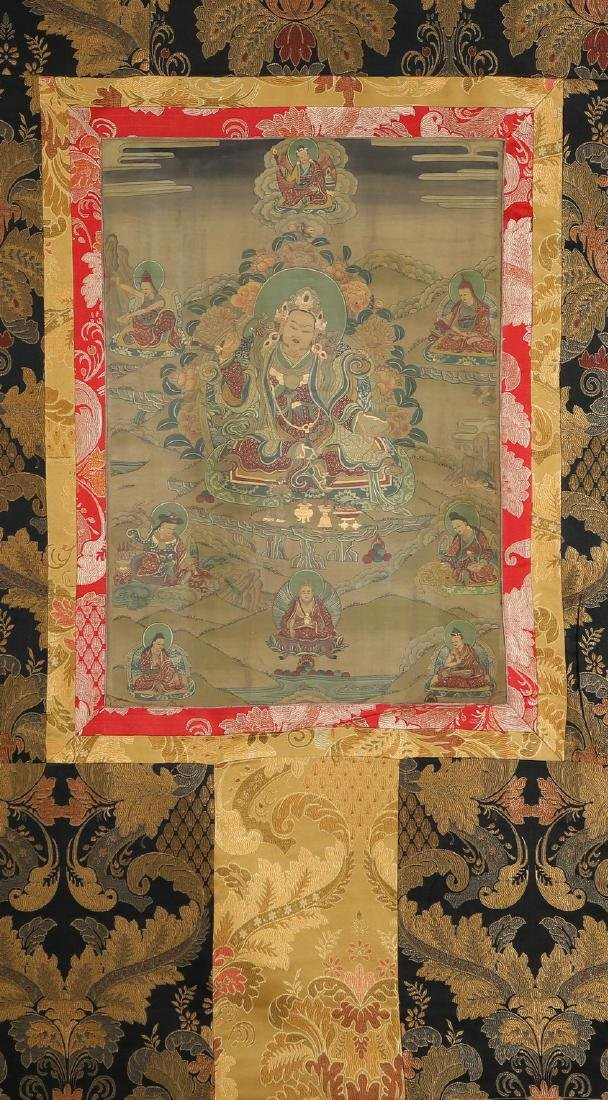 Set of Four Thangkas of Buddha Shakyamuni, Tibet - 2