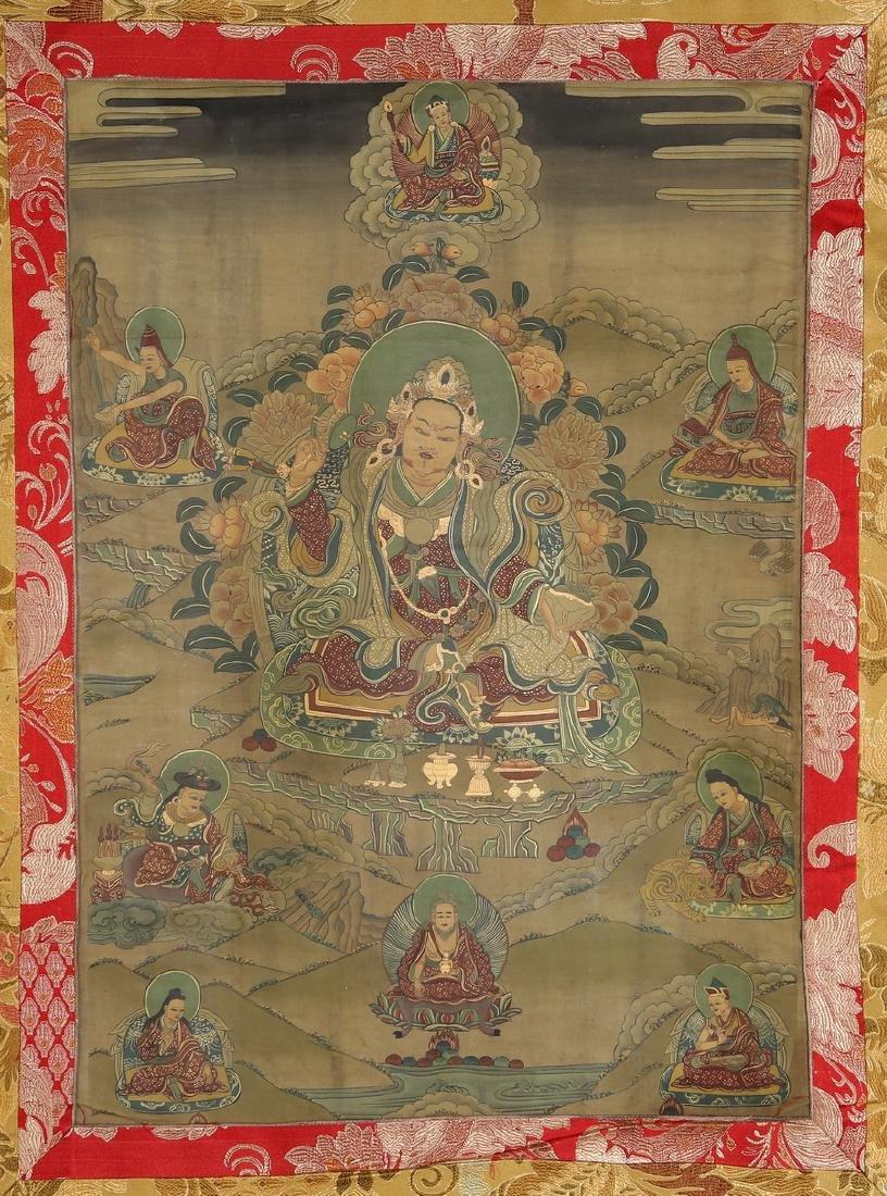 Set of Four Thangkas of Buddha Shakyamuni, Tibet - 3