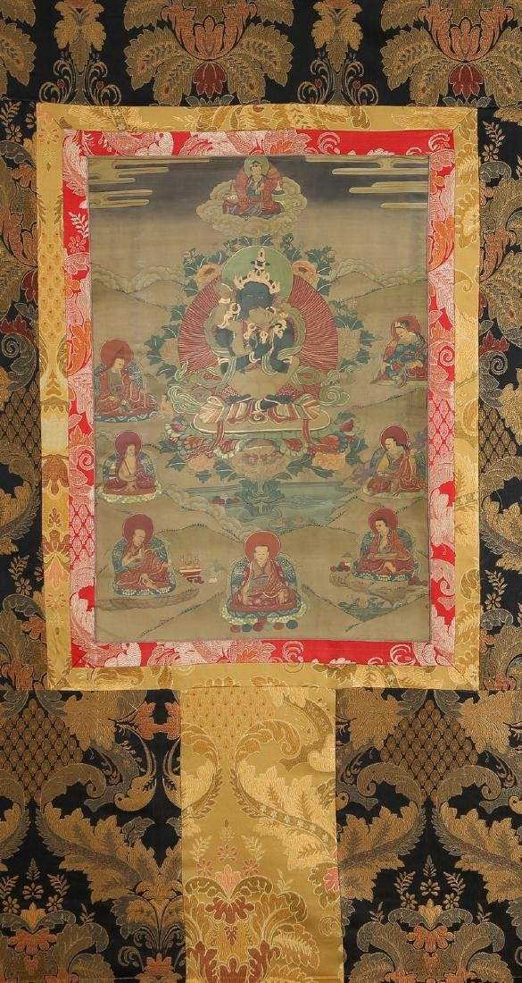 Set of Four Thangkas of Buddha Shakyamuni, Tibet - 5