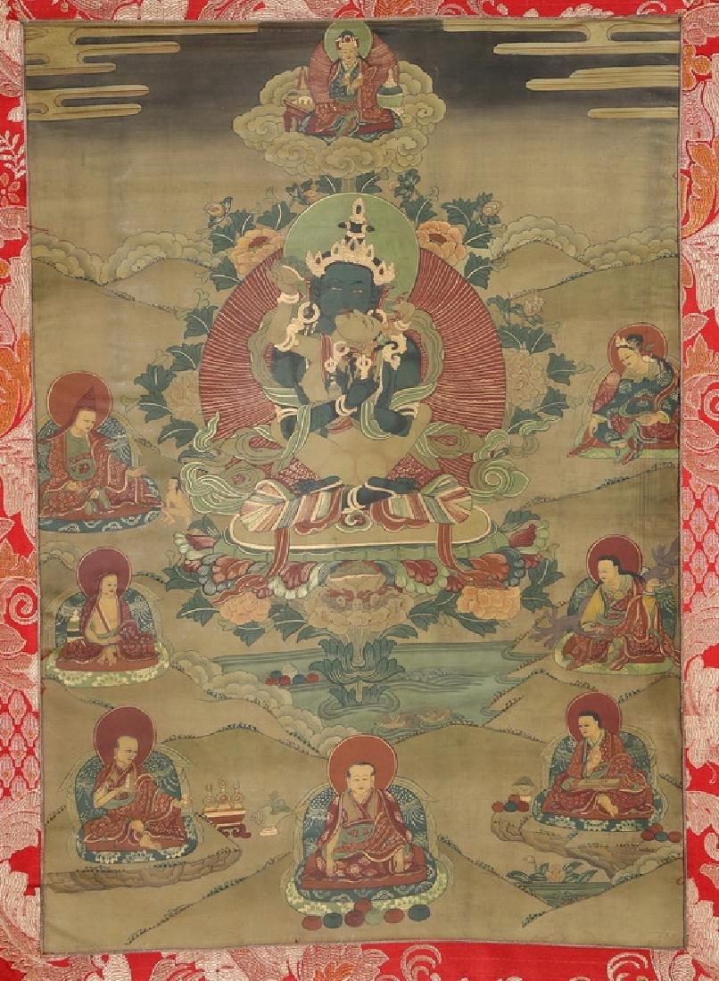 Set of Four Thangkas of Buddha Shakyamuni, Tibet - 6