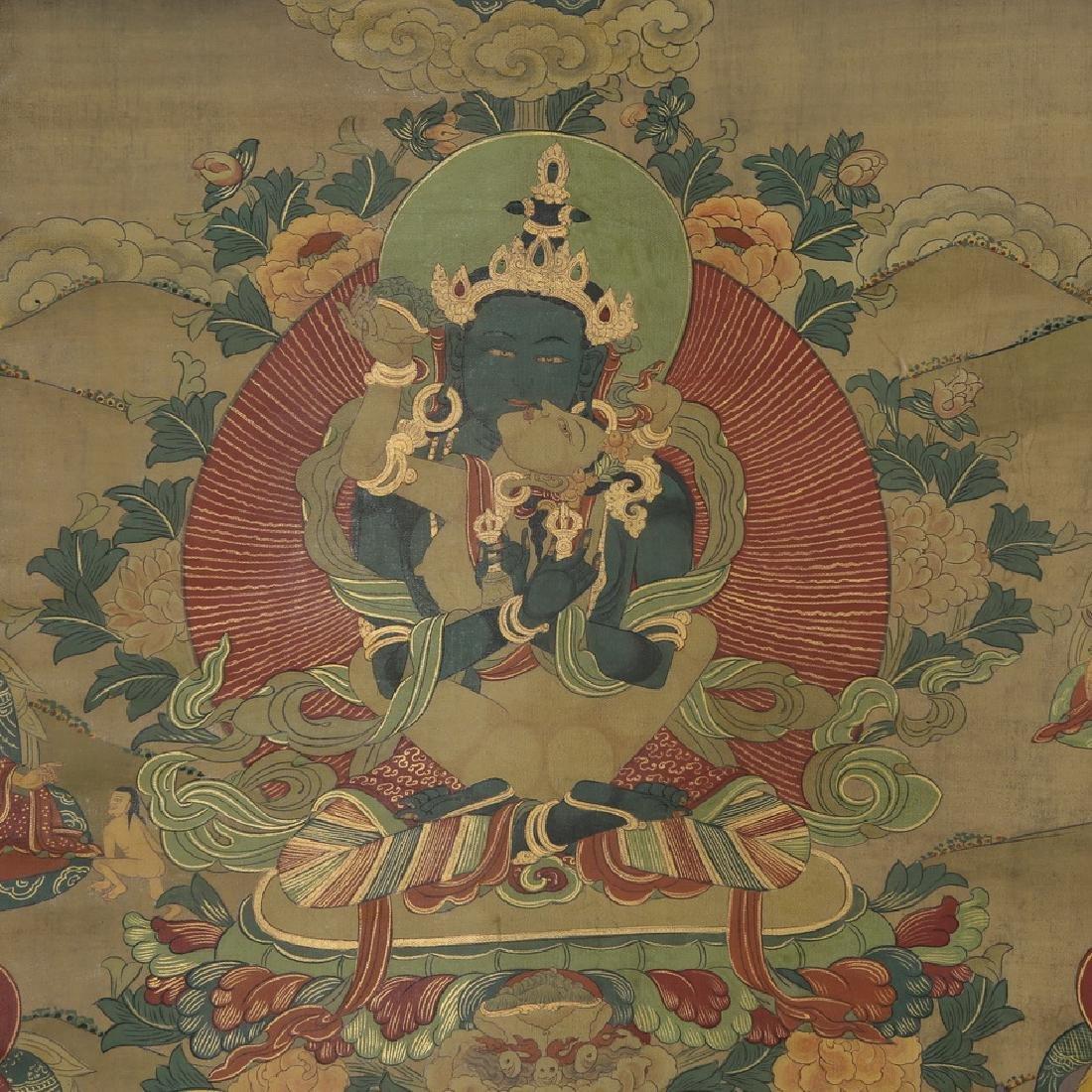 Set of Four Thangkas of Buddha Shakyamuni, Tibet - 7