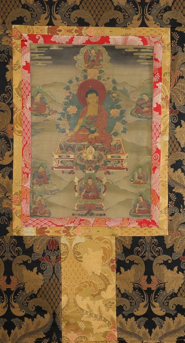 Set of Four Thangkas of Buddha Shakyamuni, Tibet - 8