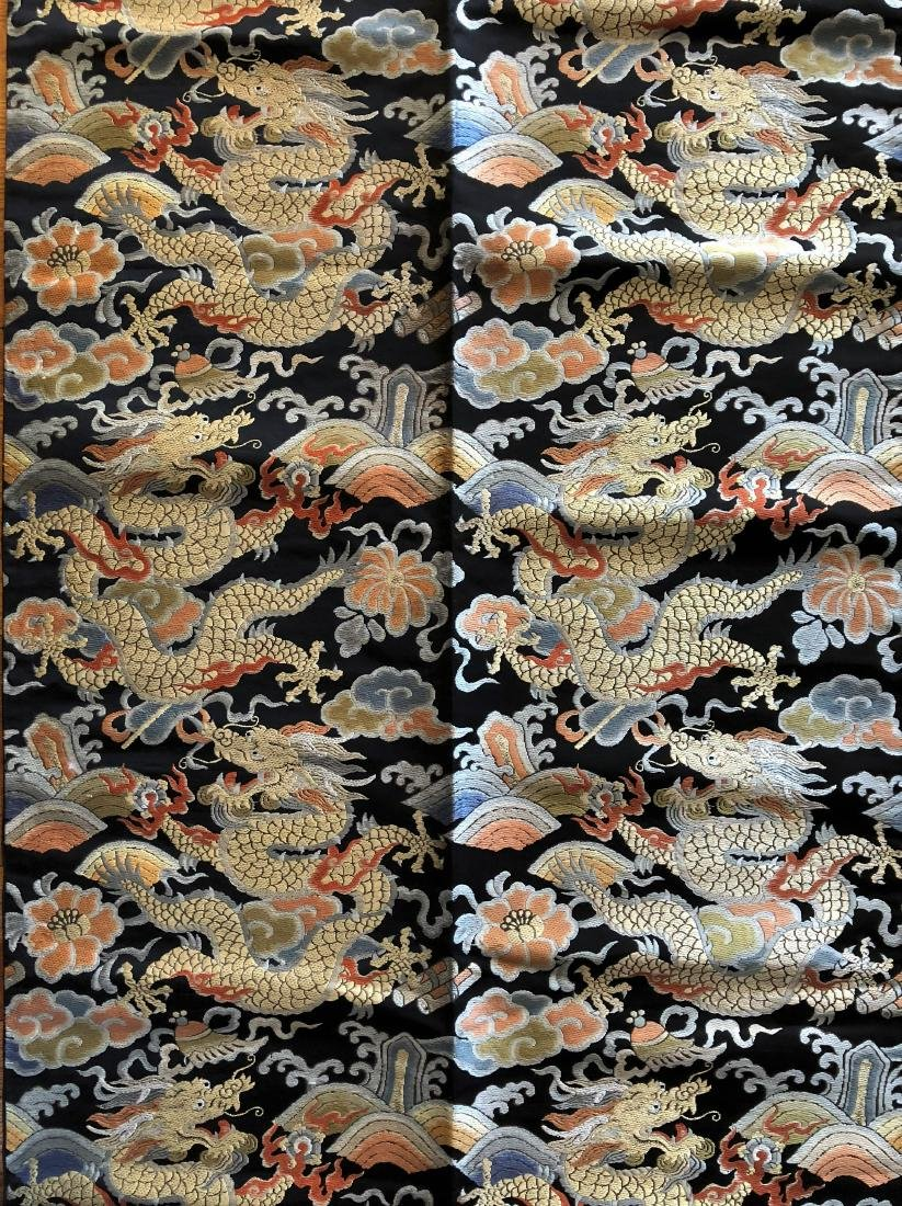 "Chinese Silk Embroidery ""Dragon"" Banner - 3"