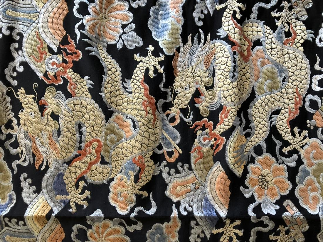 "Chinese Silk Embroidery ""Dragon"" Banner - 5"