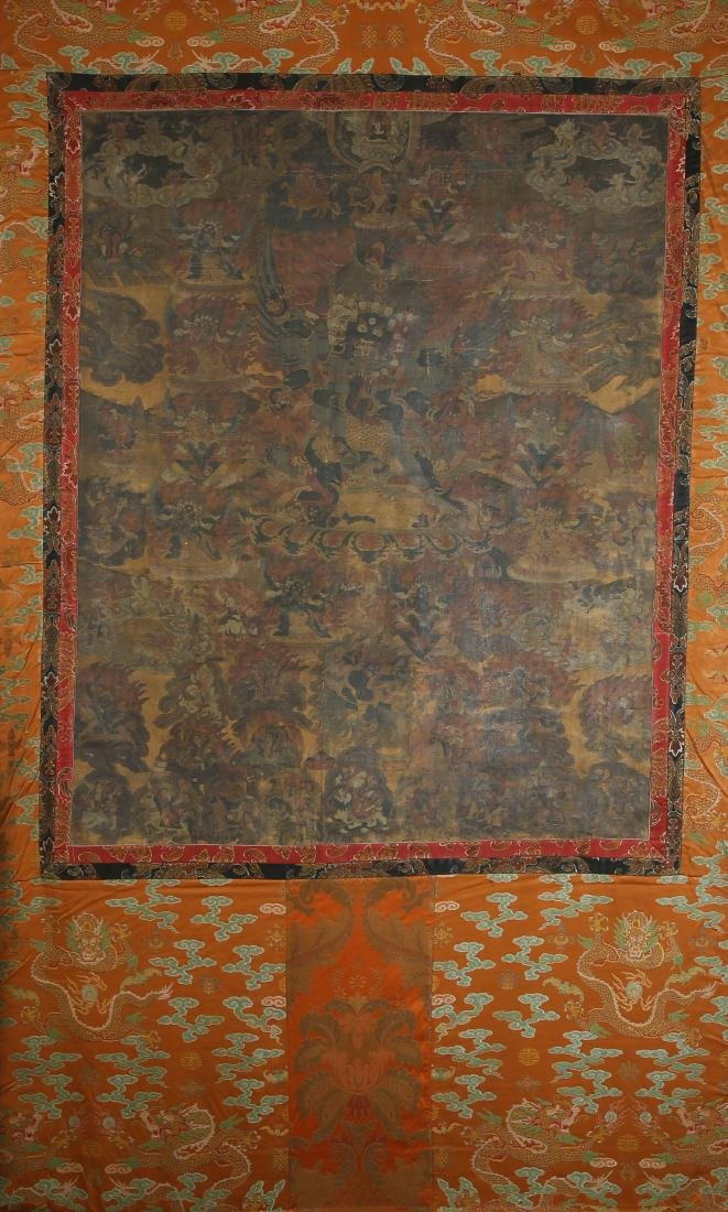 Tibetan Thangka of Six Armed Mahakalan Dharma Protector