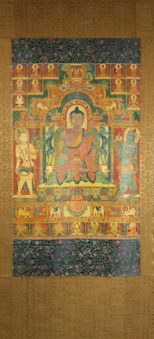 Tibetan Thangka Depicting Buddha Shakyamuni
