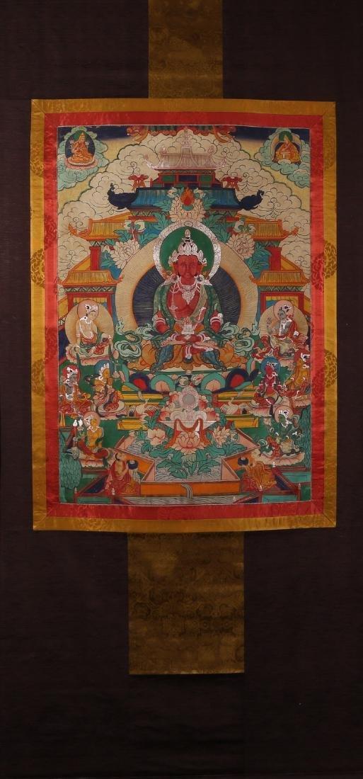 Tibetan Thangka of Jambhala