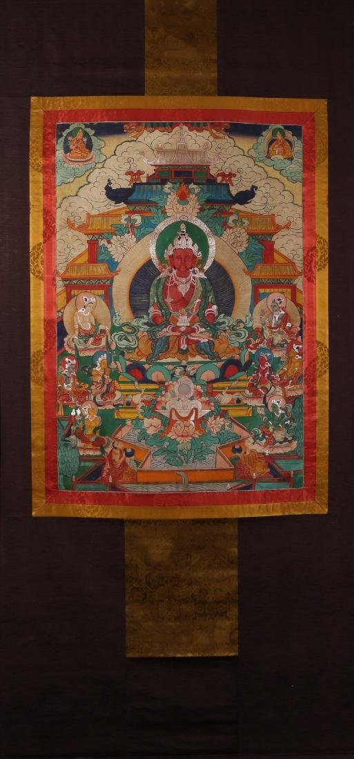 Tibetan Thangka of Jambhala