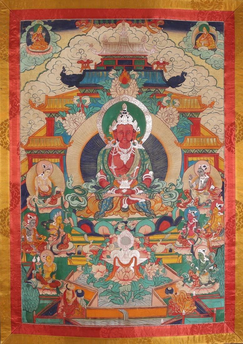 Tibetan Thangka of Jambhala - 3