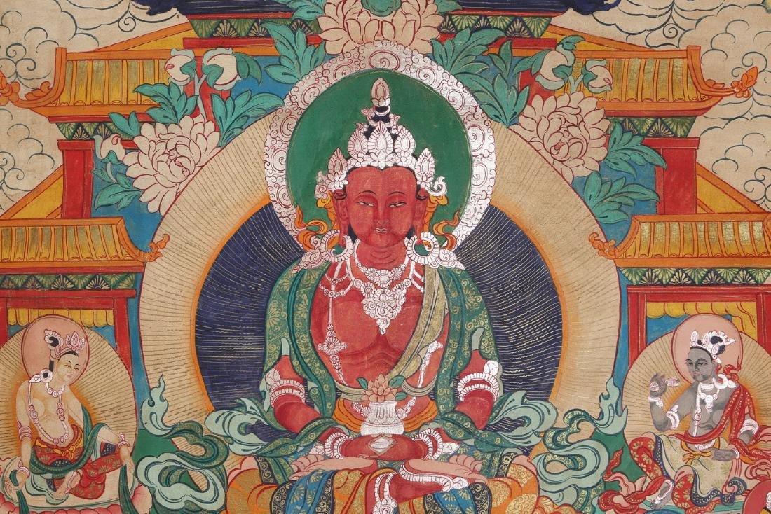 Tibetan Thangka of Jambhala - 4