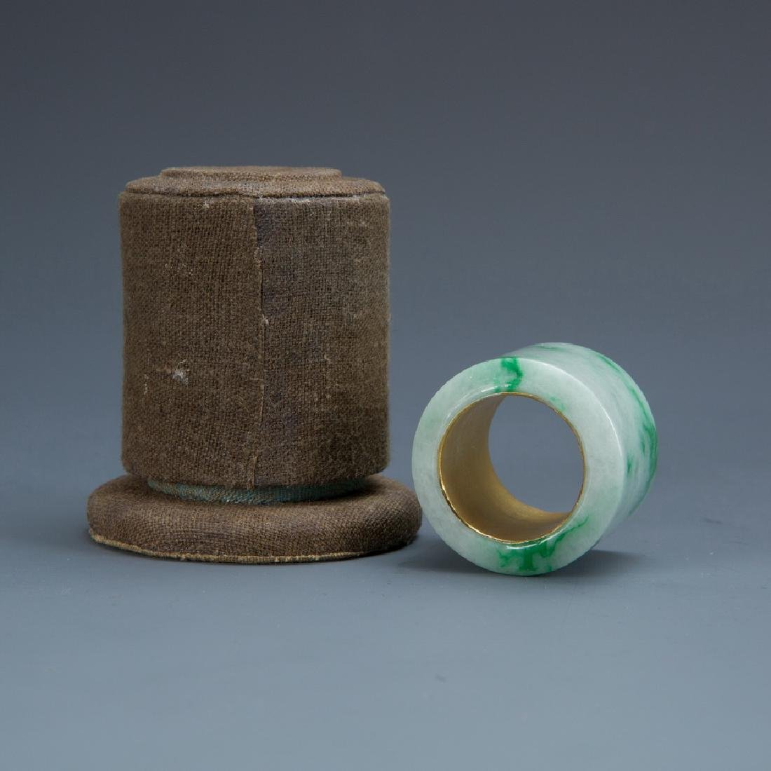 Group of Five Jade Archers Rings - 9