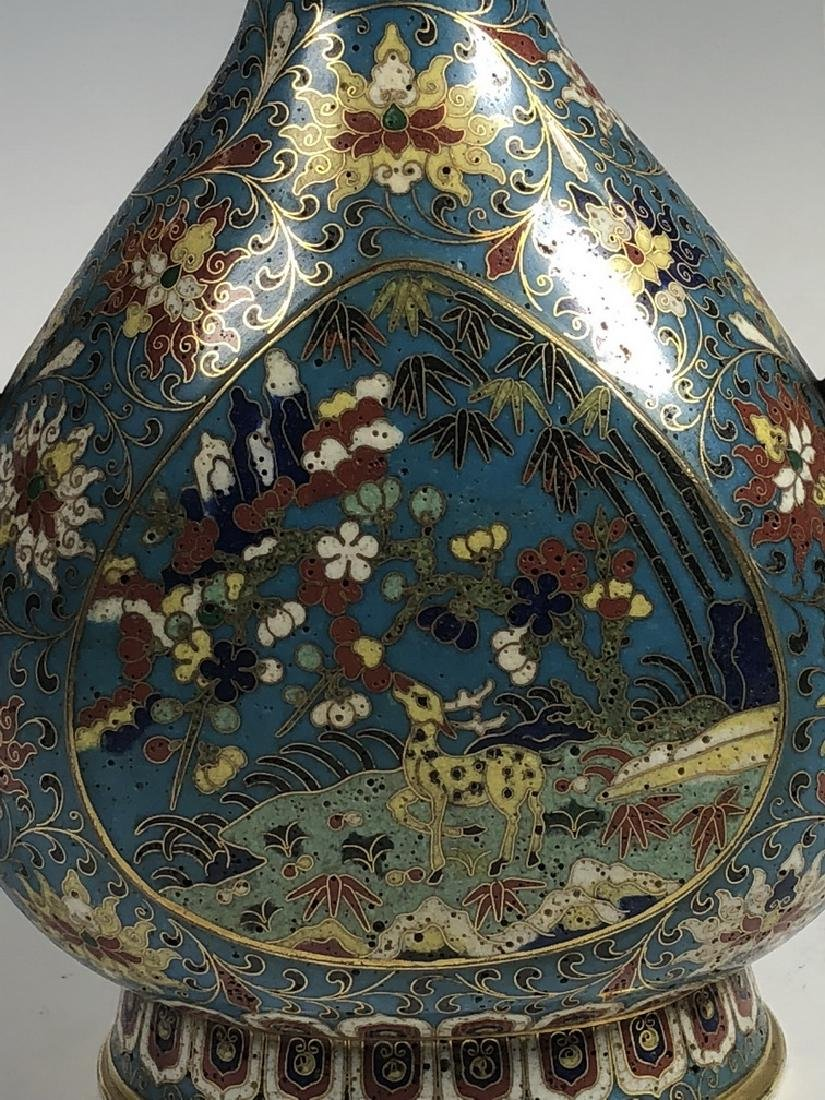 Cloisonne Enamel and Gilt Ewer with Mark - 10
