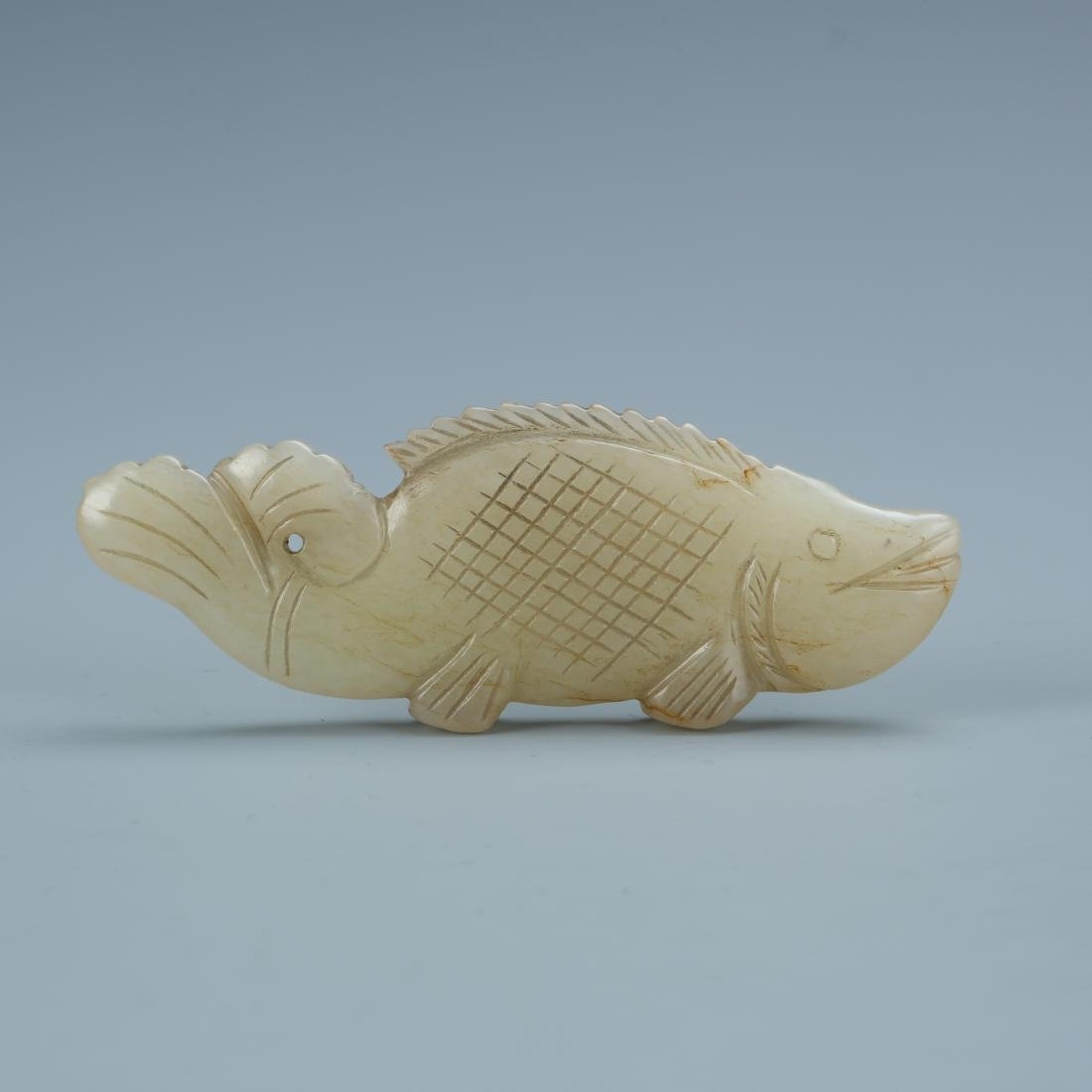 Carved White jade of a Fish