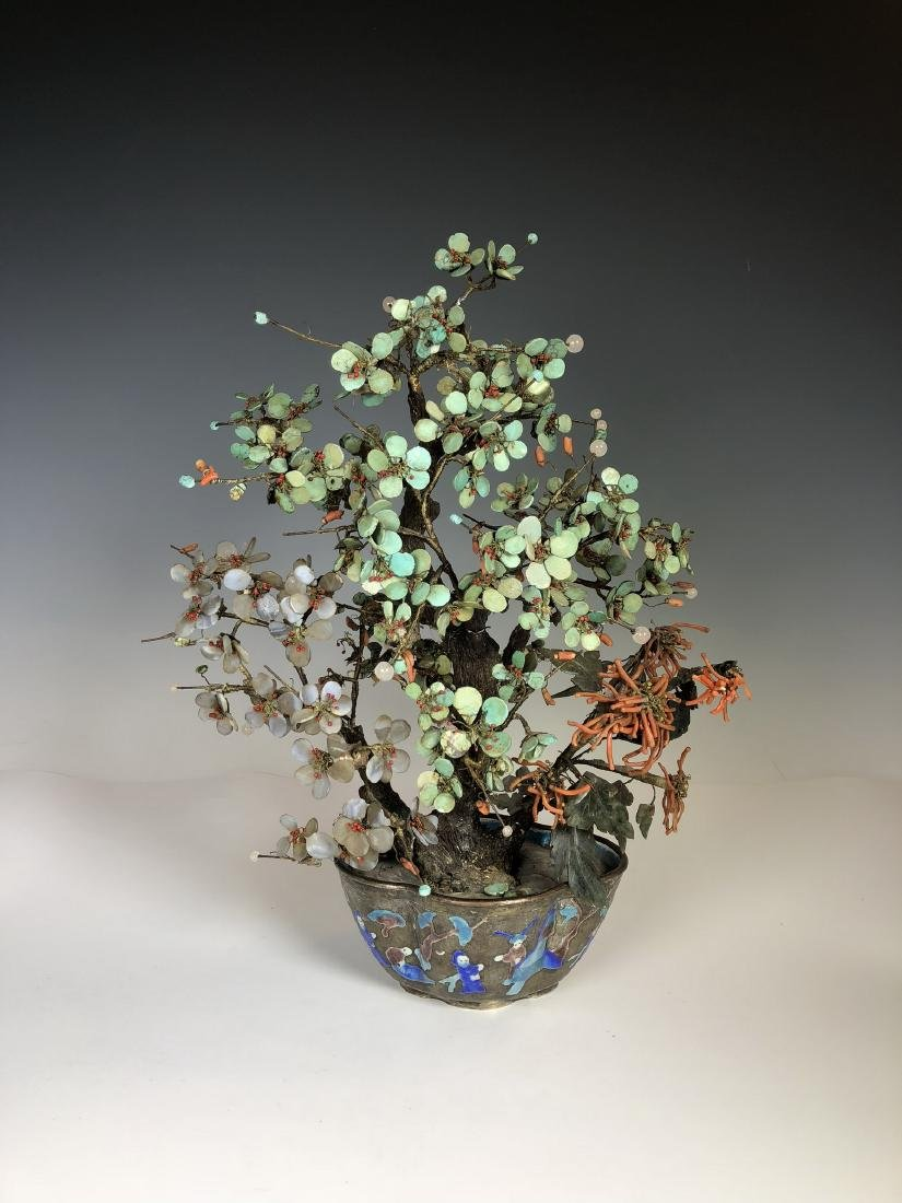 Miniascape Garden of Coral Jade and Pearl in Flowerpot