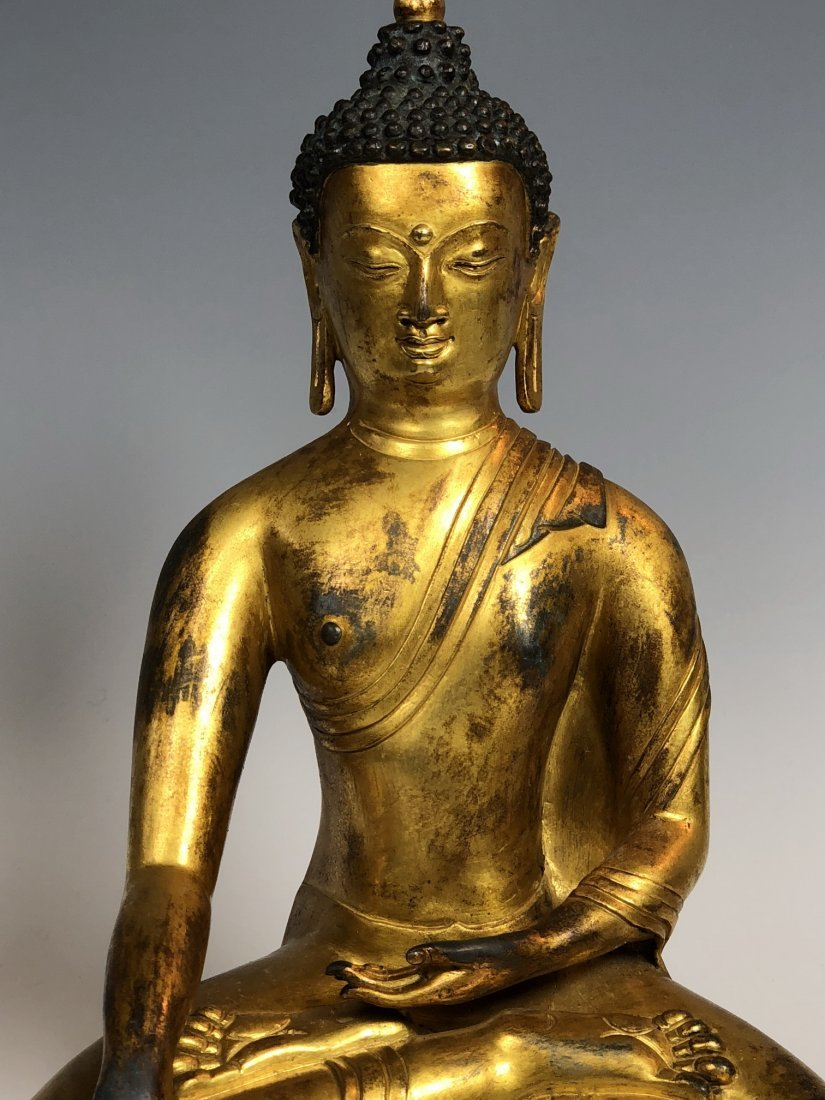 Gilt Bronze Figure Of Sakyamuni With Mark - 2