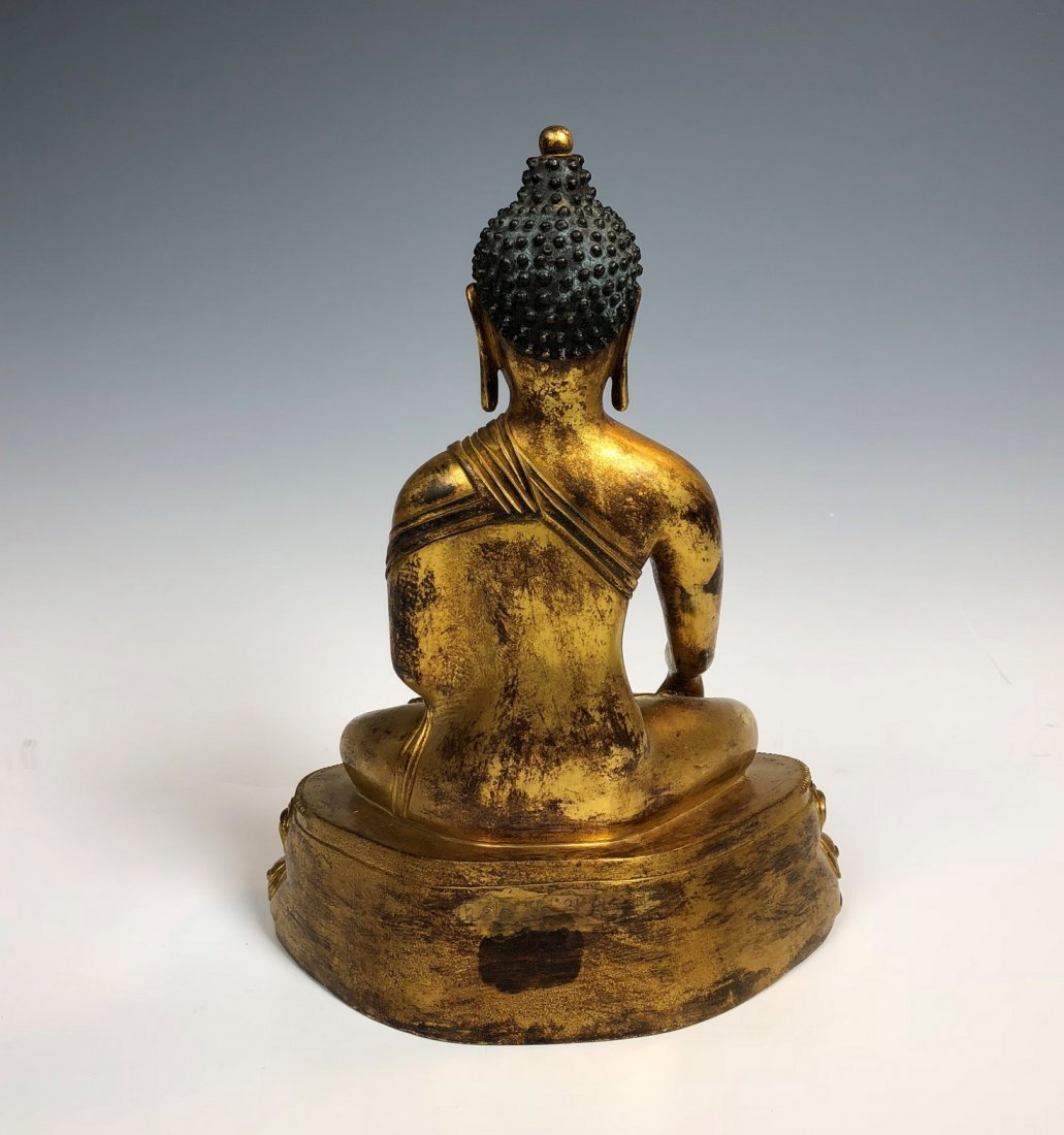 Gilt Bronze Figure Of Sakyamuni With Mark - 5