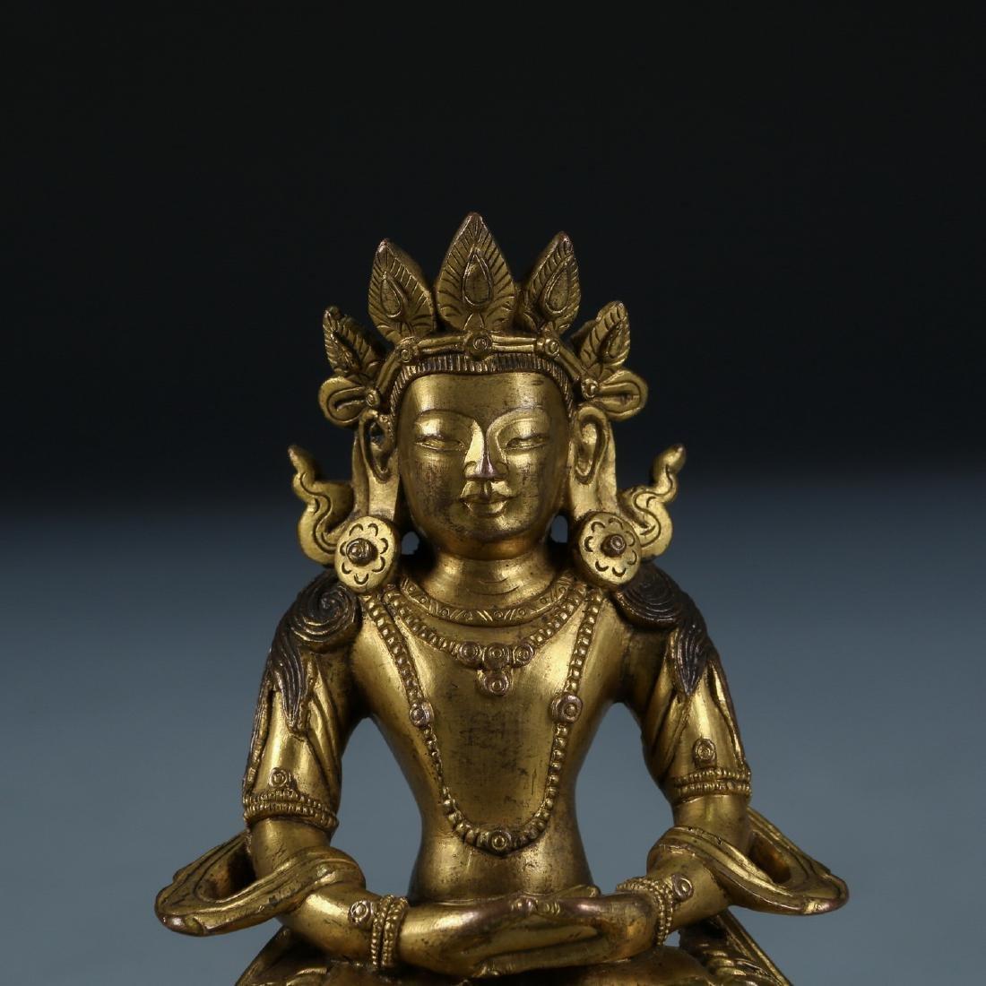 Gilt Bronze Figure of Amitayus - 2