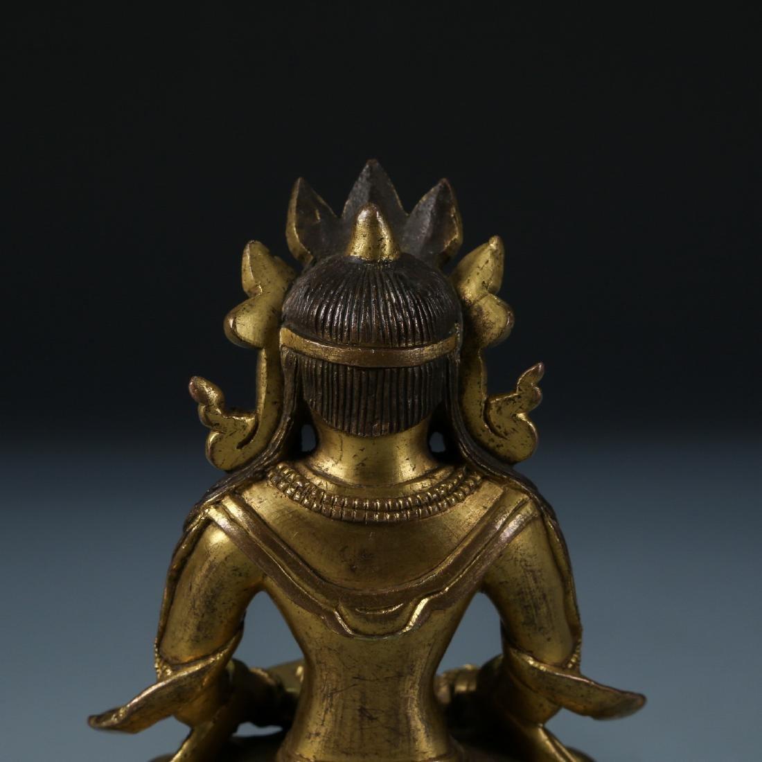 Gilt Bronze Figure of Amitayus - 5