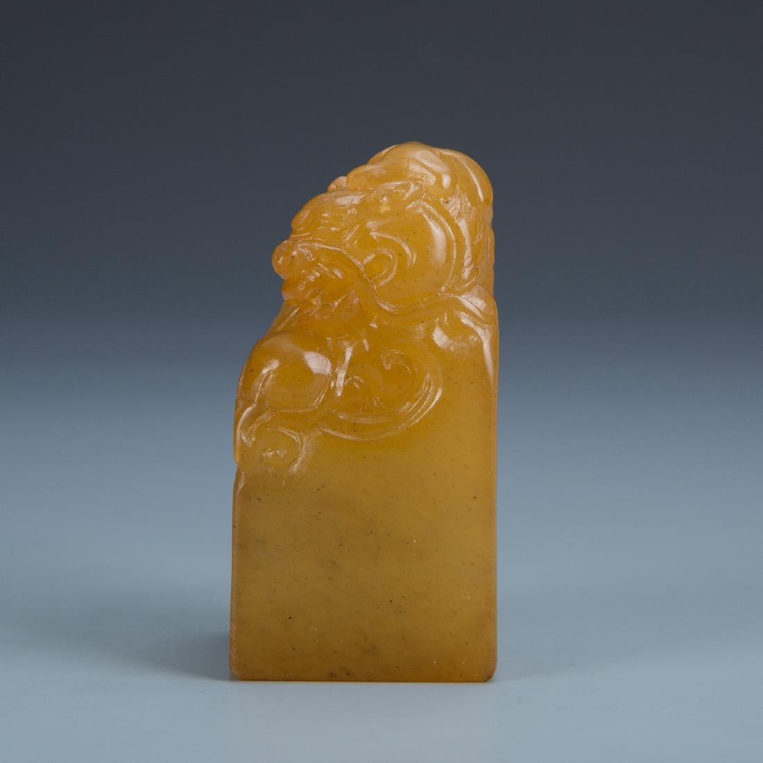 Carved Soapstone Dragon Seal