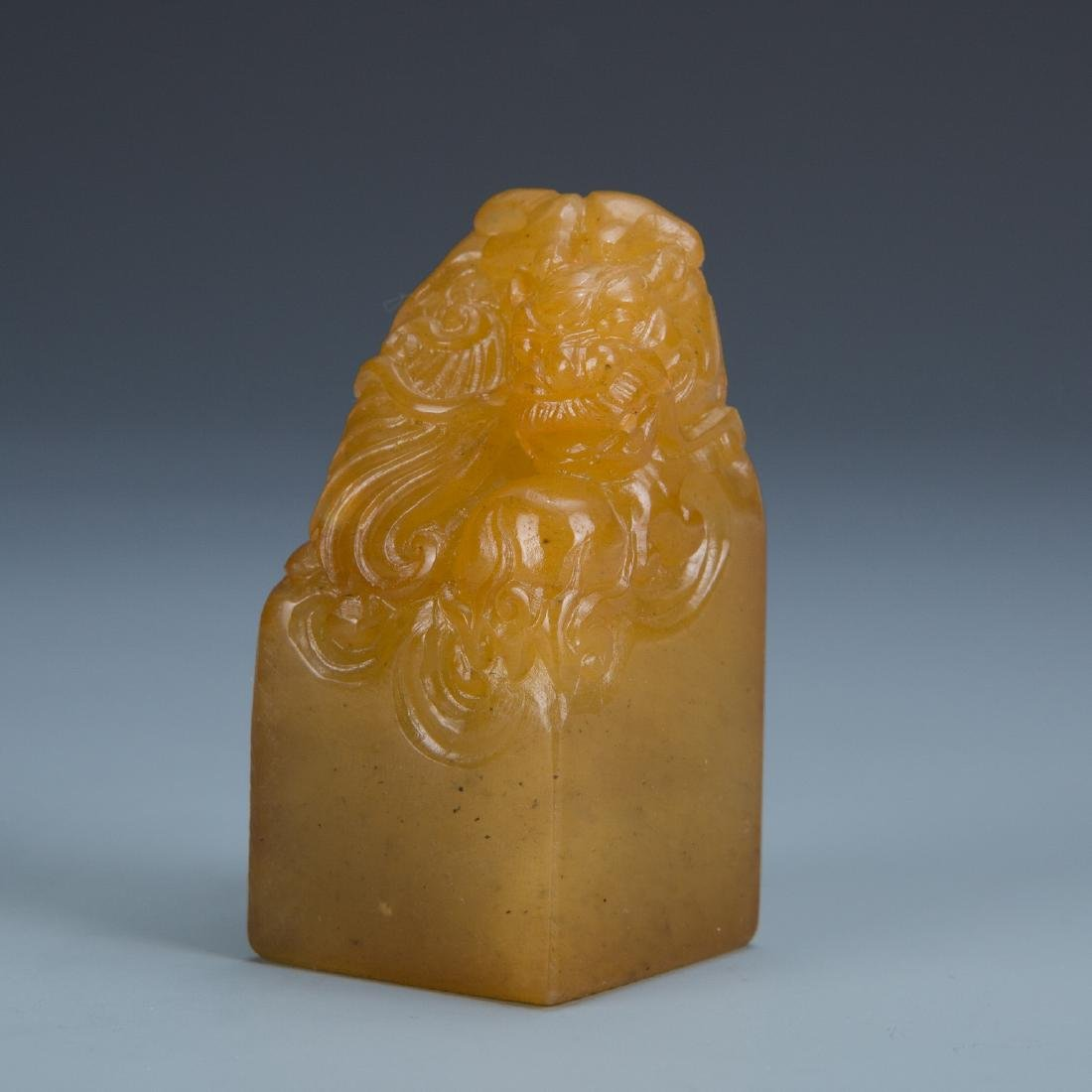 Carved Soapstone Dragon Seal - 2