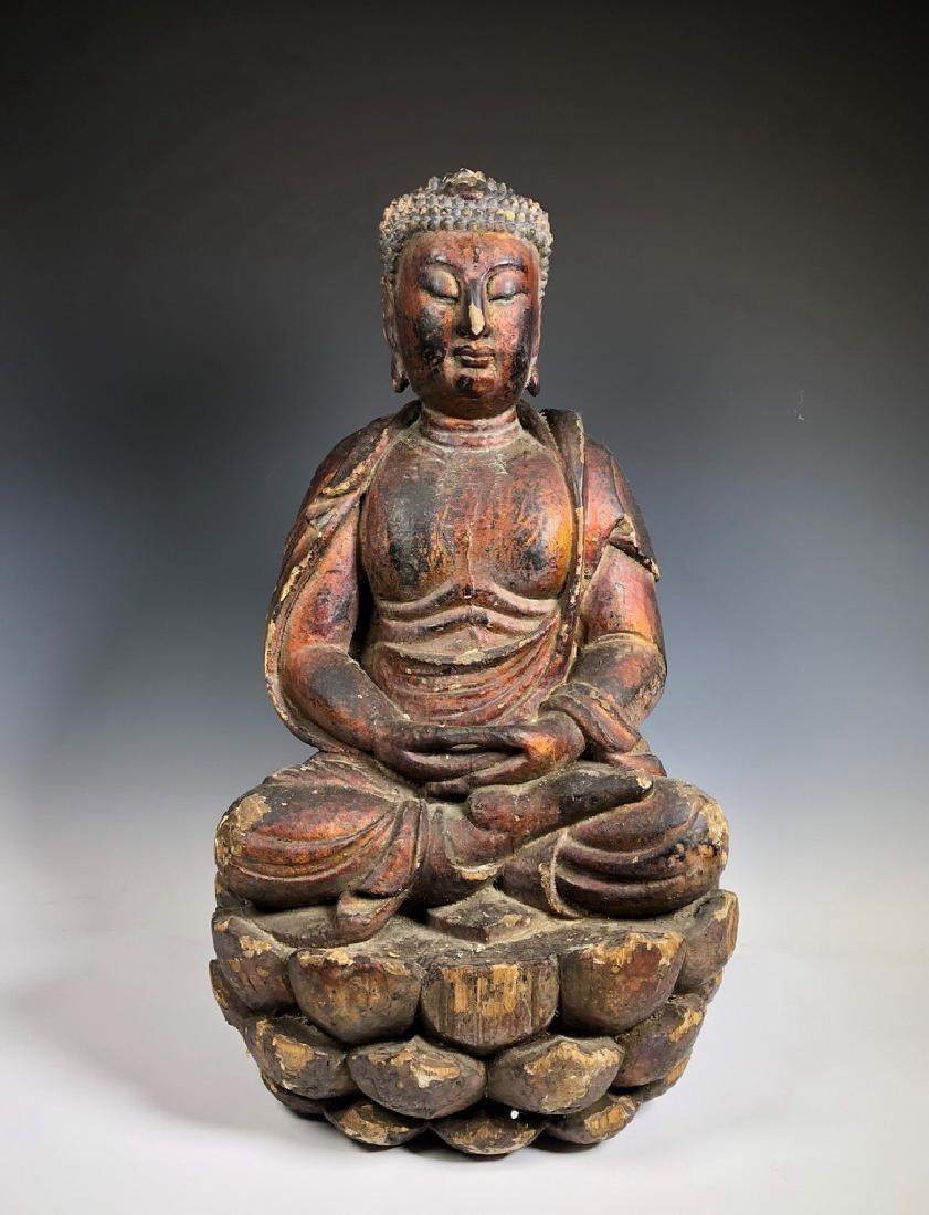 Gilt Wooden Figure Of Shyama Tara