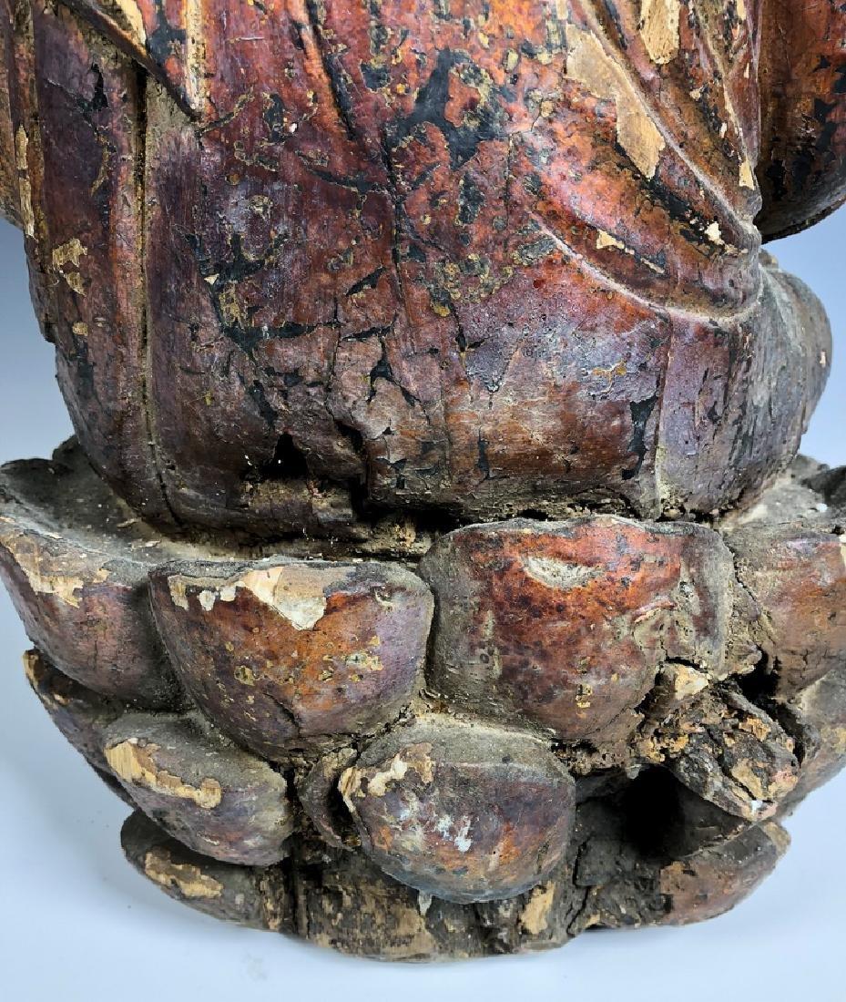 Gilt Wooden Figure Of Shyama Tara - 9