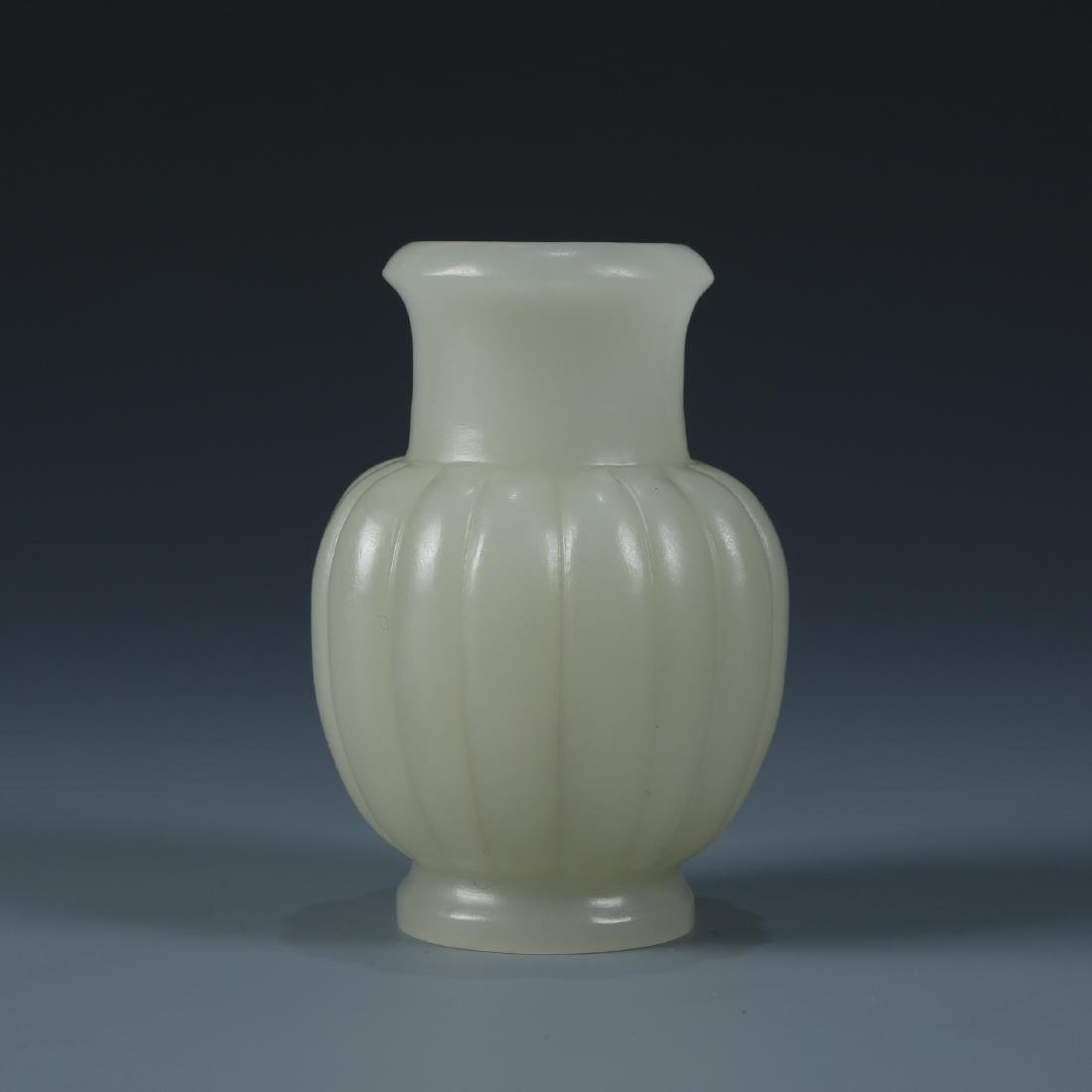 A White Jade Lobed Vase