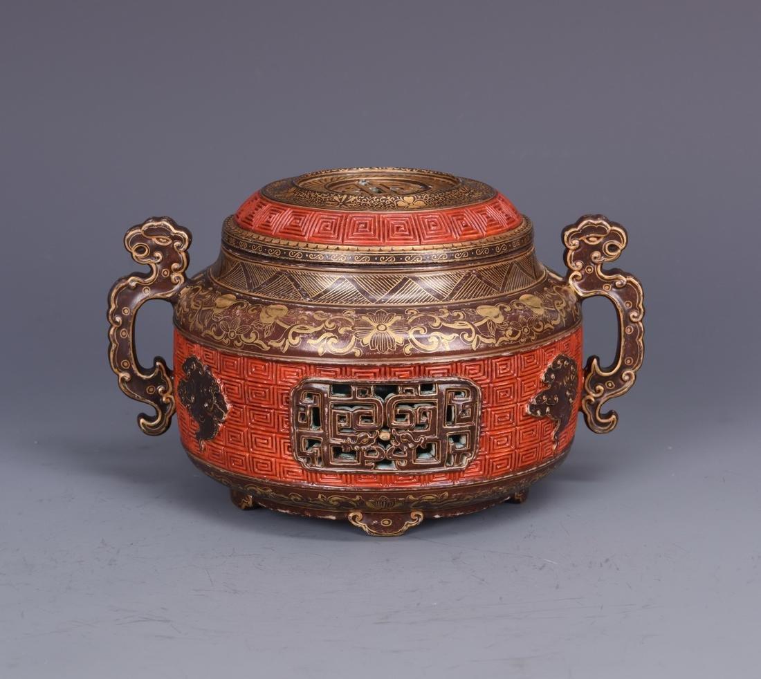 Porcelain Censer with Mark