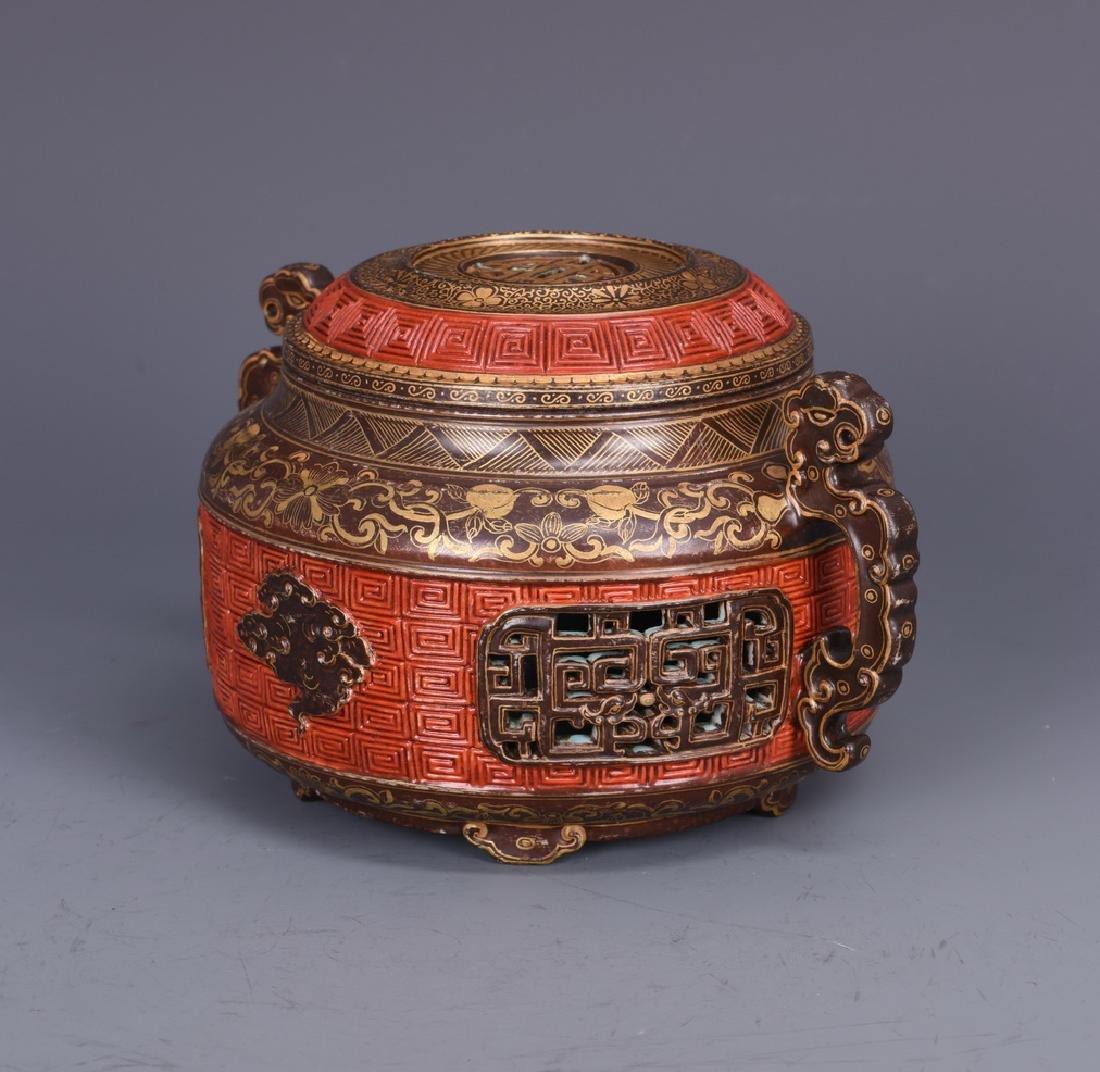 Porcelain Censer with Mark - 4