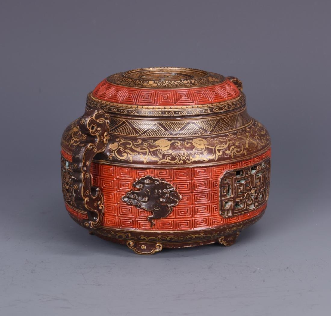 Porcelain Censer with Mark - 5