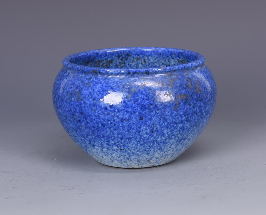 Blue Glazed Porcelain Bowl