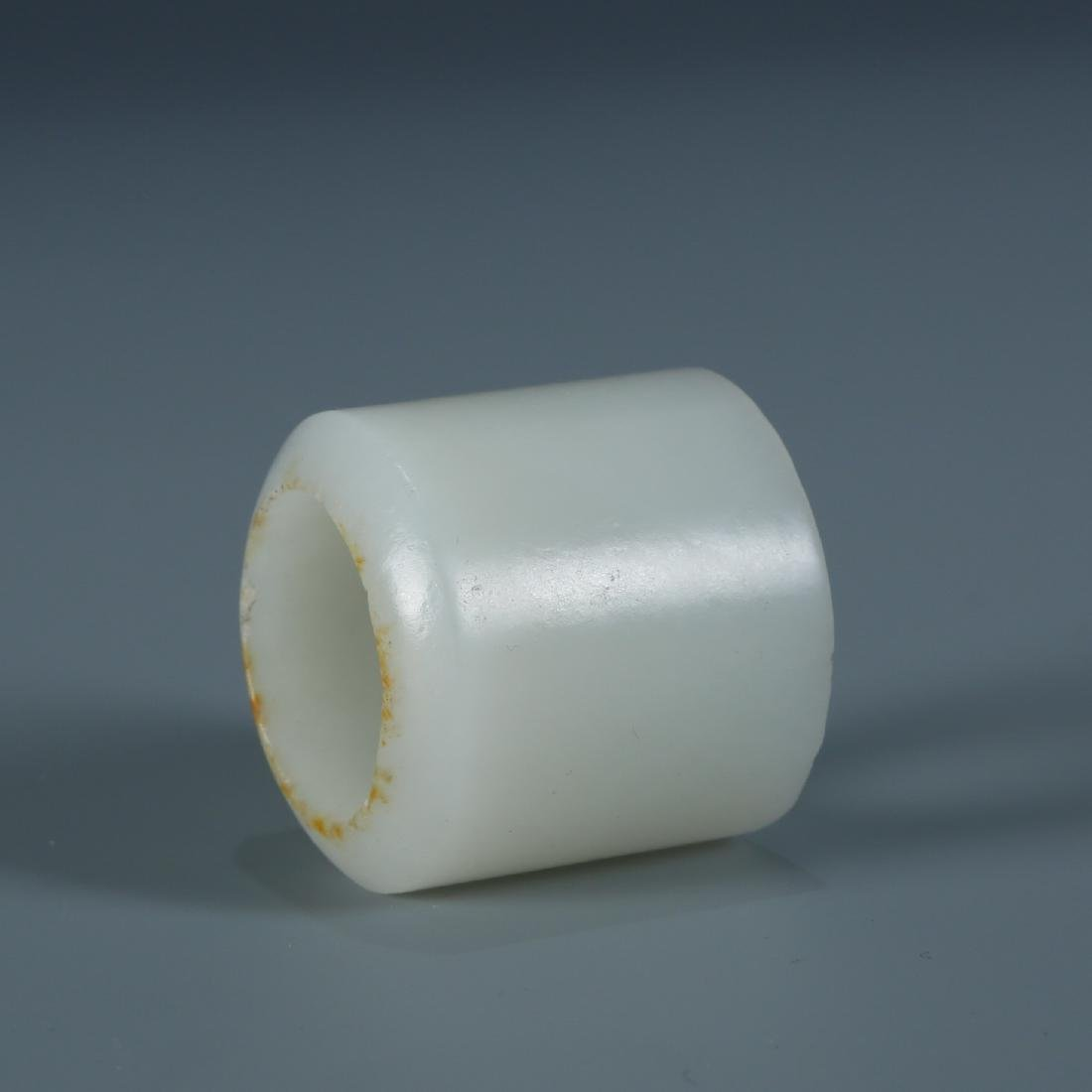 White Jade Archers Ring - 5