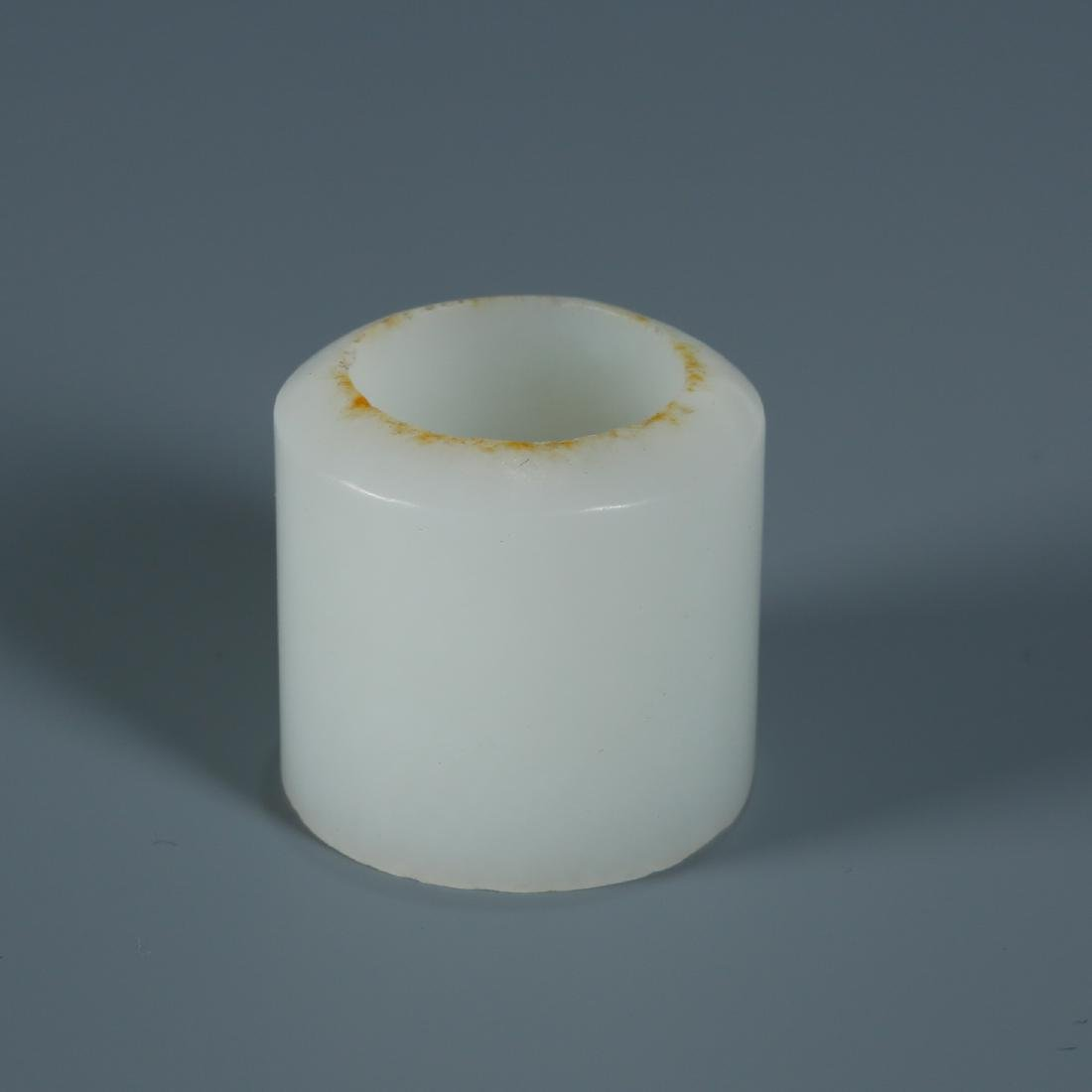 White Jade Archers Ring - 6