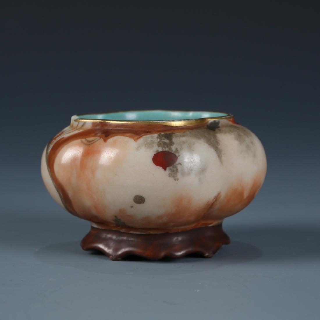 Chinese Scholar Porcelain Brush Washer