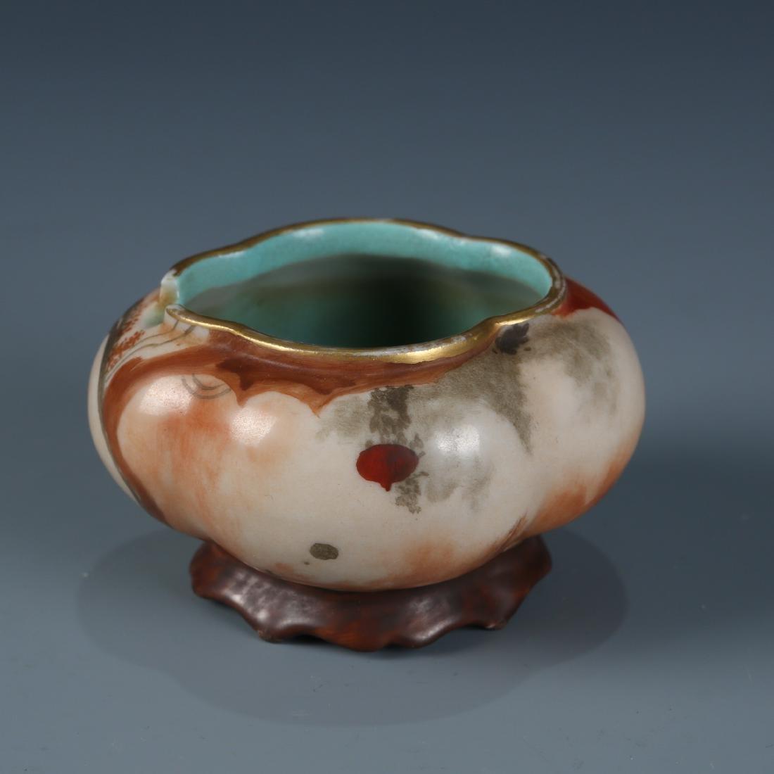 Chinese Scholar Porcelain Brush Washer - 2