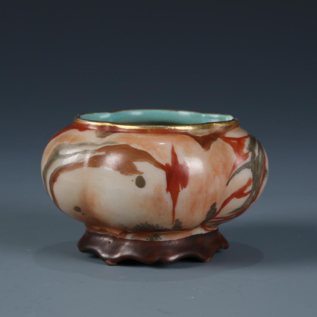 Chinese Scholar Porcelain Brush Washer - 4