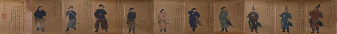 Chinese Ink and Color on Silk Hand Scroll - 2