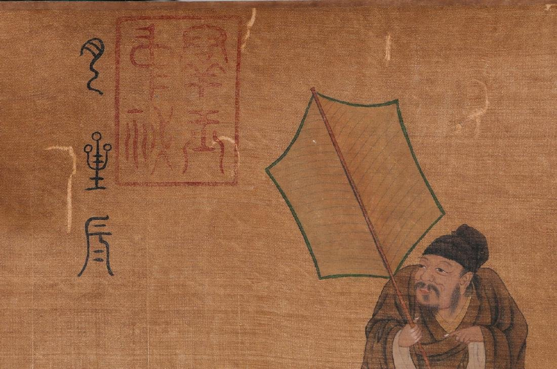 Chinese Ink and Color on Silk Hand Scroll - 4