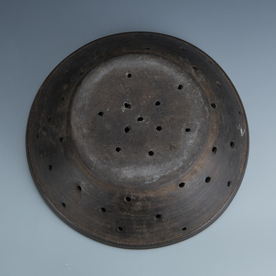 Estate Sale: Metal Colander and Bronze Pack Animal - 8