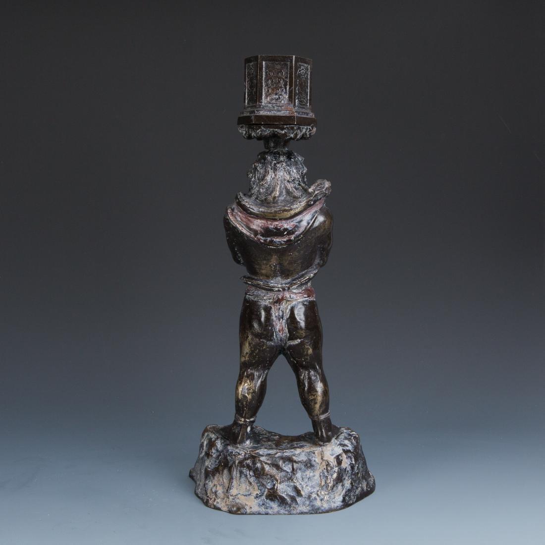 Estate Sale: Gilt Bronze Figure of Manjushri & Guardian - 7