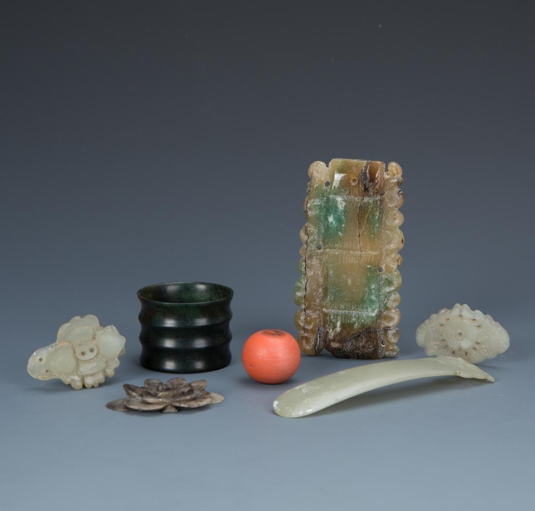 Estate Sale: 7pc Carved Jade Pieces