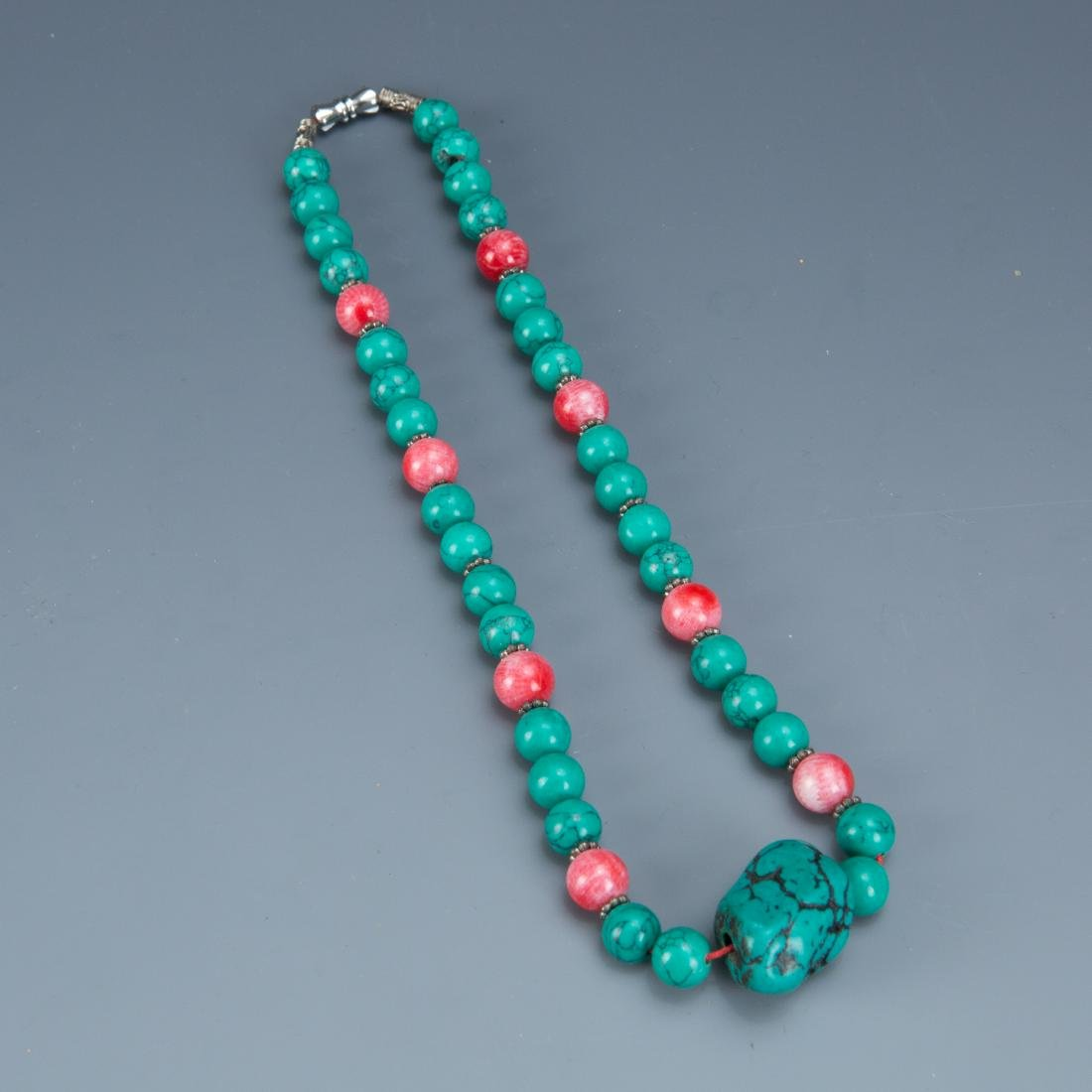 Estate Sale: Group of Glass Necklaces and Bracelets - 3