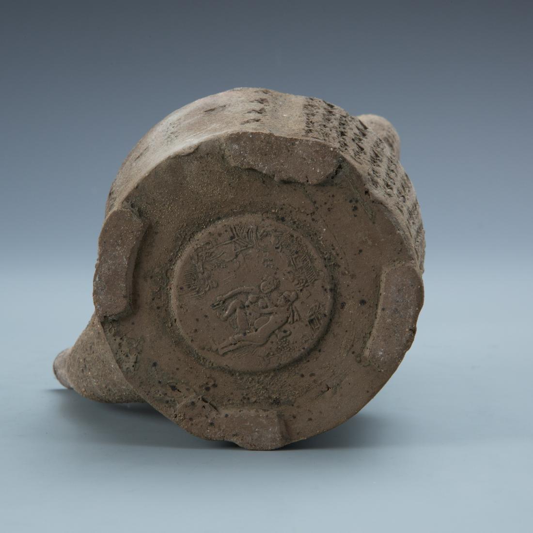 Estate Sale: Opium Pipe Carved Wood Statue Tea Pot - 5