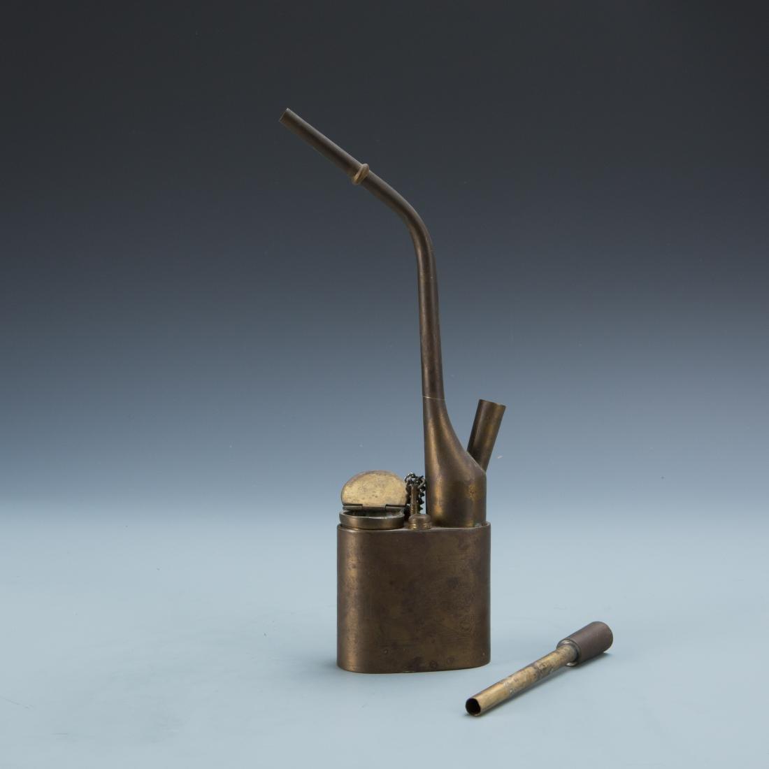 Estate Sale: Opium Pipe Carved Wood Statue Tea Pot - 7