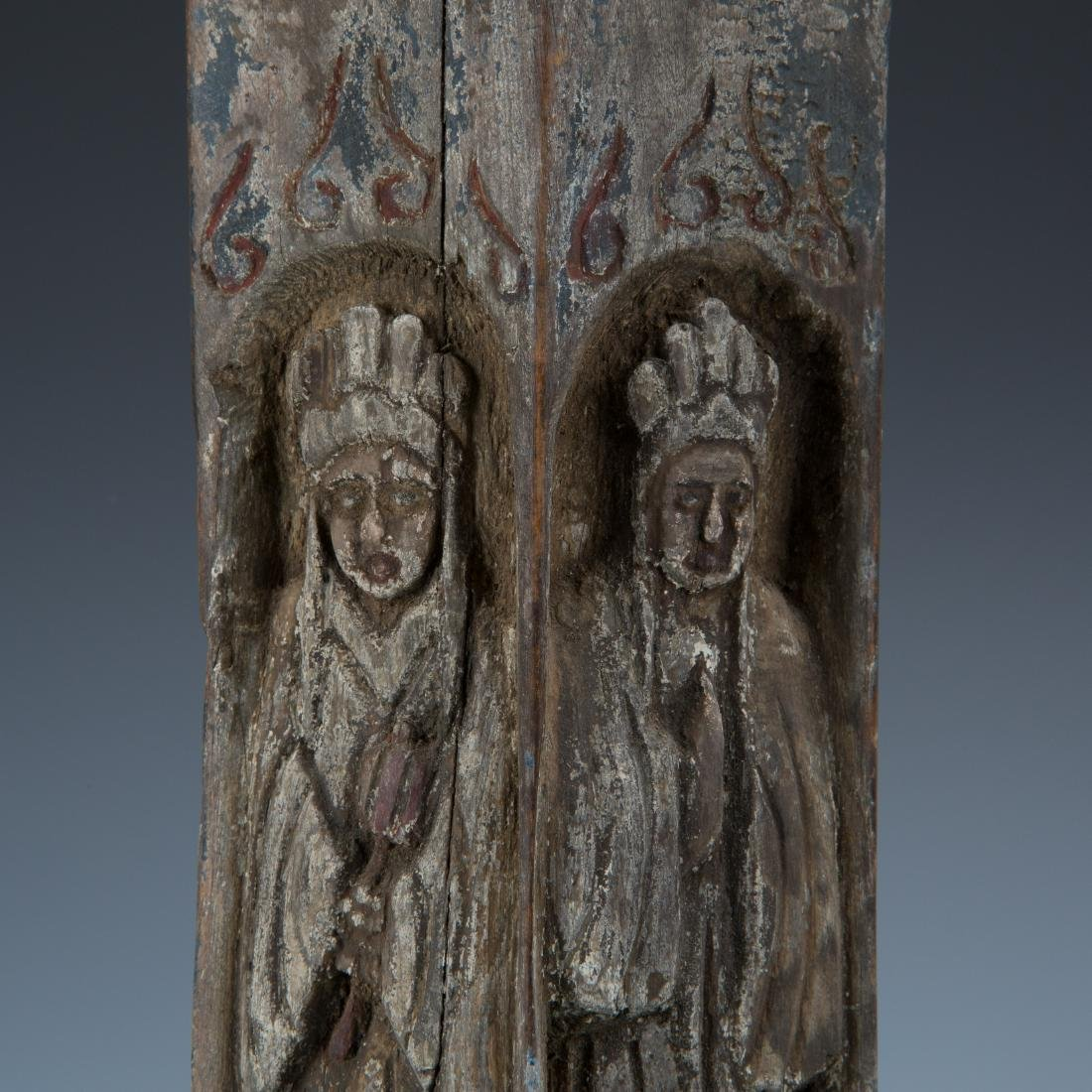 Estate Sale: Opium Pipe Carved Wood Statue Tea Pot - 8