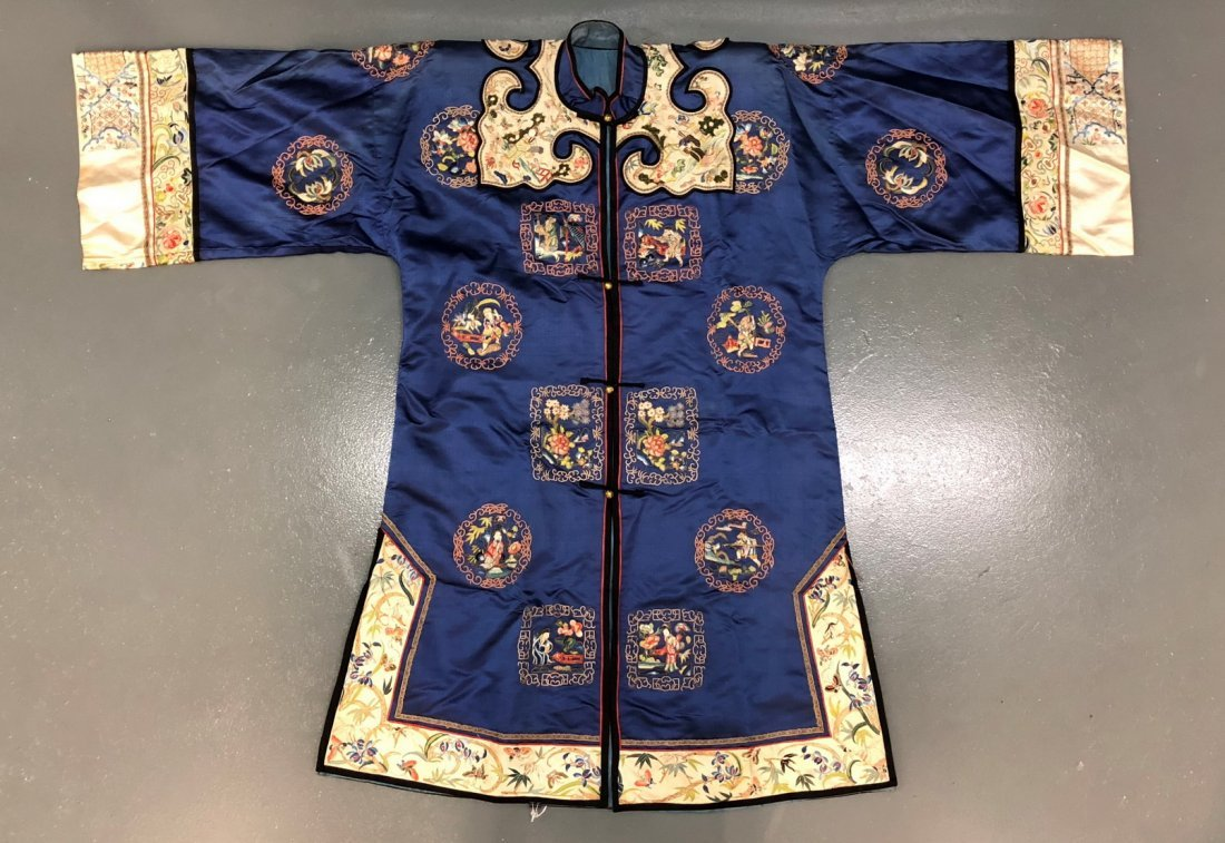 Chinese Silk Embroidered Dragon Robe
