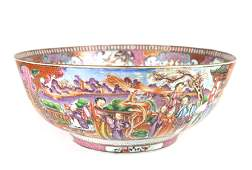 18TH C. CHINESE EXPORT PORCELAIN PUNCH BOWL